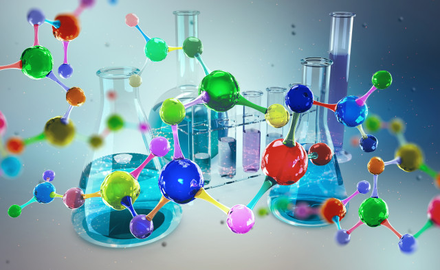 Chemical-Molecule-Flask_AdobeStock_215659124