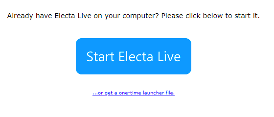 electa launch page